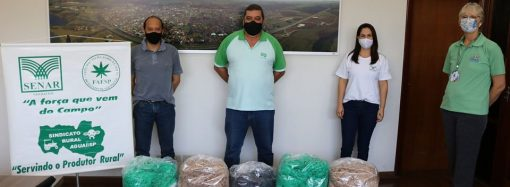 Sindicato Rural e Senar doam 10 mil máscaras para a Prefeitura de Aguaí