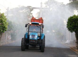 Produtores ajudam na desinfecção de Aguaí